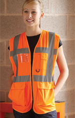 Yoko HVW801 High Visibility Executive Waistcoat