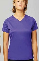 Pro-Act PA477 Quick Dry V-Neck Ladies